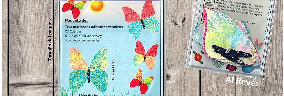 Mariposas adhesivas termicos
