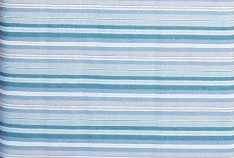 Le Quill Stof, rayas azul. 100% Algodon, 1,10Ancho 15€/m