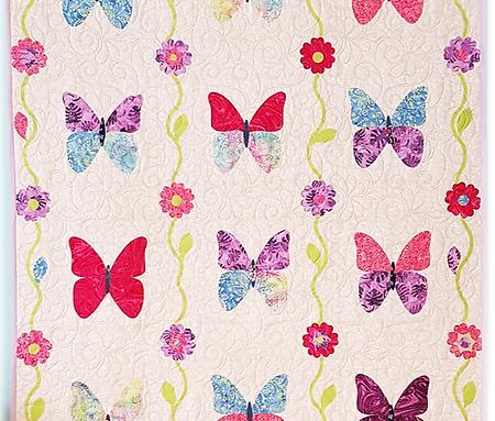 Kit quilt de mariposas