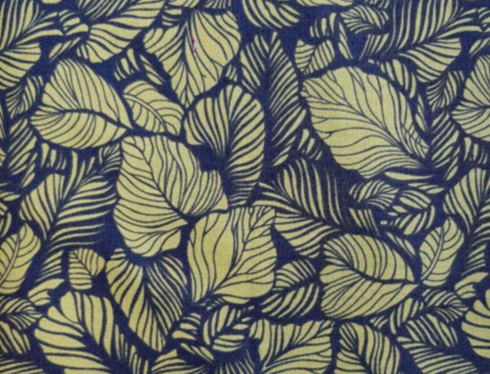 Carnabay Street Maywood Studios, hojas azul/verde. 100% Algodon, 1,10Ancho