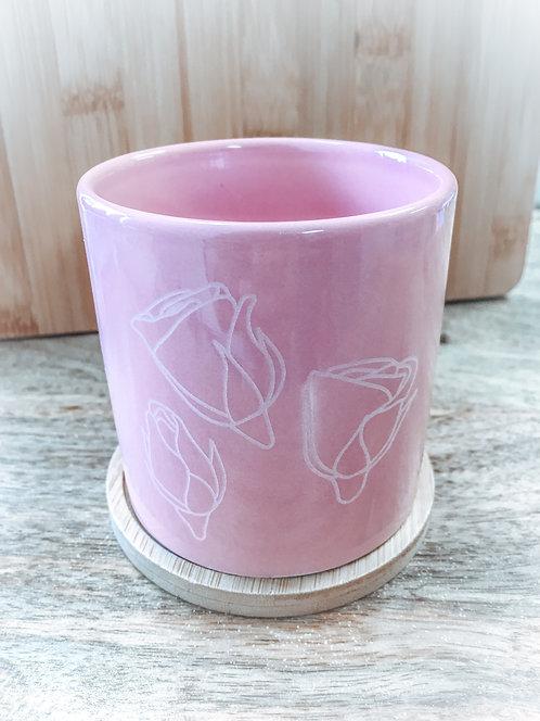 Mini Planter - Pink Lokelani Buds