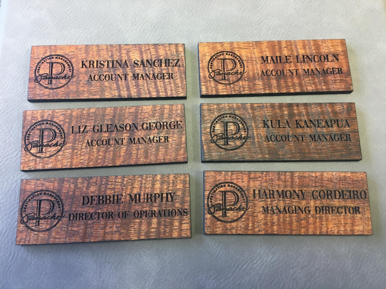 Koa Name Plates