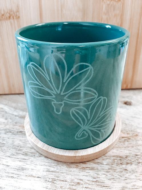 Mini Planter - Green Naupaka