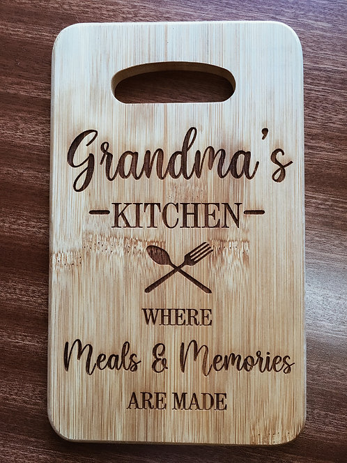 """Cutting Board - Grandma's Kitchen, 5 x 8"""""""