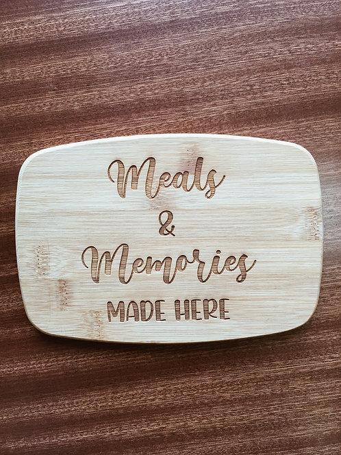 "Cutting Board - Meals & Memories, 5.5 x 8"""