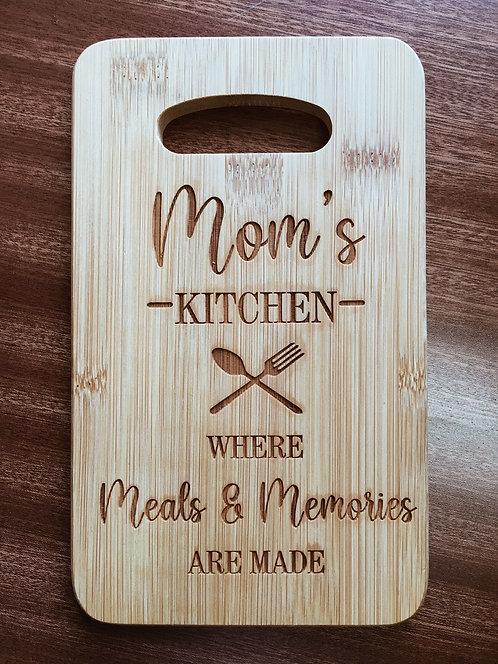 "Cutting Board - Mom's Kitchen, 5 x 8"""