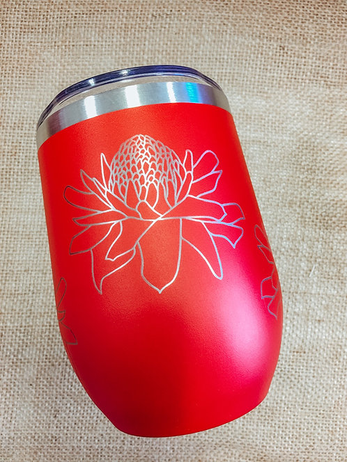 Wine Tumbler - Torch Ginger, Red