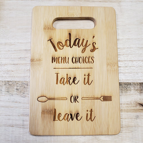 Cutting Board - Small (With Handle)
