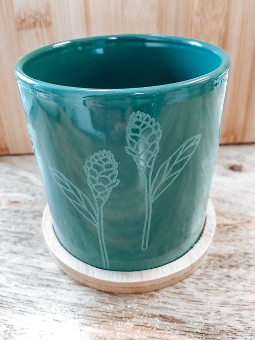 Mini Planter - Green Awapuhi