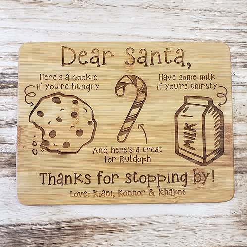 Customize A Christmas Serving Board