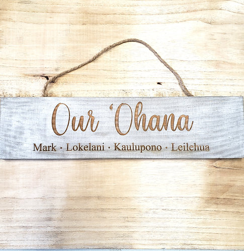 Customize A Wooden Sign