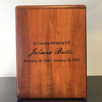 custom urn engraving