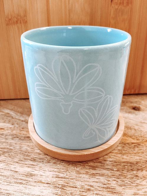 Mini Planter - Blue Naupaka