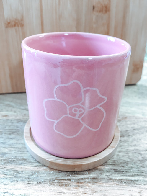 Mini Planter - Pink Puakenikeni