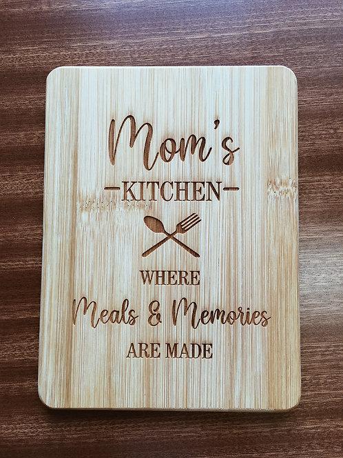 "Cutting Board - Mom's Kitchen, 6 x 8"""