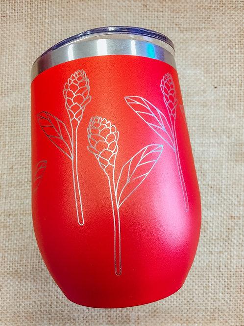 Wine Tumbler - Awapuhi, Red