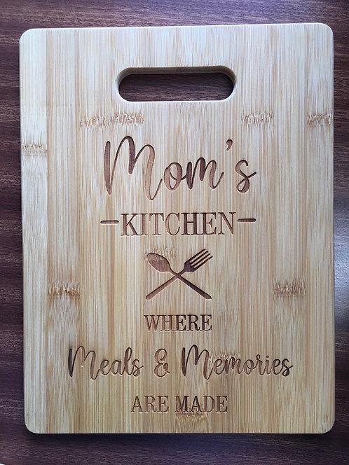 "Cutting Board - Mom's Kitchen, 8.5 x 11"""