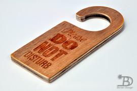 Do not disturb wooden hanger