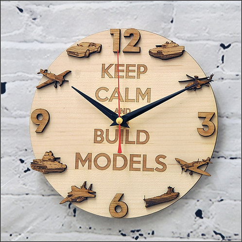 Wooden Clock - Keep calm and build models
