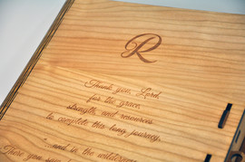Personalised wooden Book Box