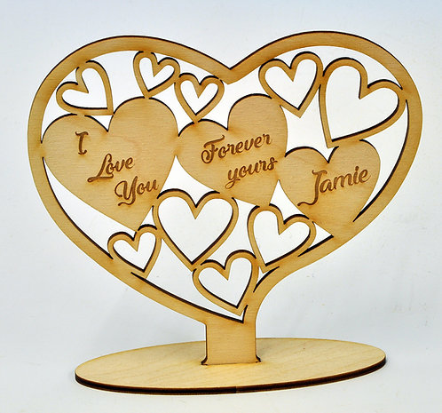 Wooden Heart with personalised engraving