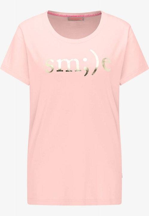 FRIEDA & FREDDIES Shirt rose mit Druck in gold