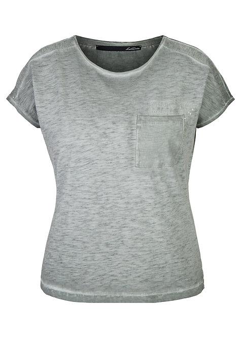 LE COMTE Shirt mit Pailletten in AGAVE