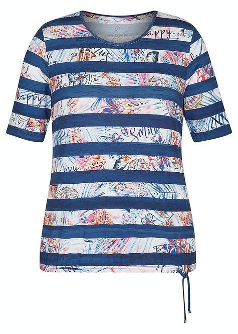 RABE Shirt in allover Muster und Bindeband
