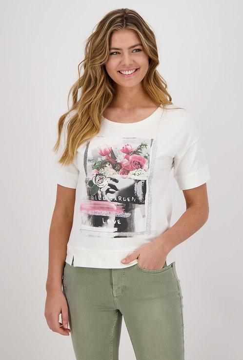 MONARI Shirt off white mit Druck