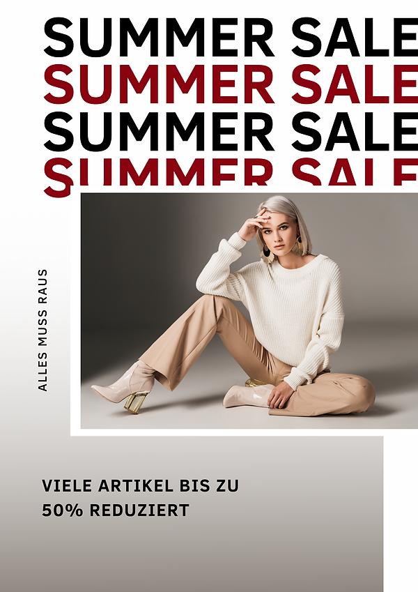 Beiges Summer Sale Werbeposter.png