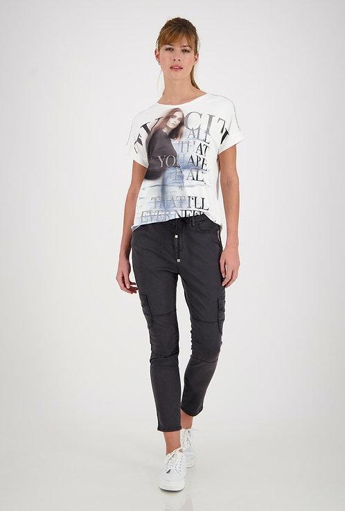 MONARI Shirt Druck off white