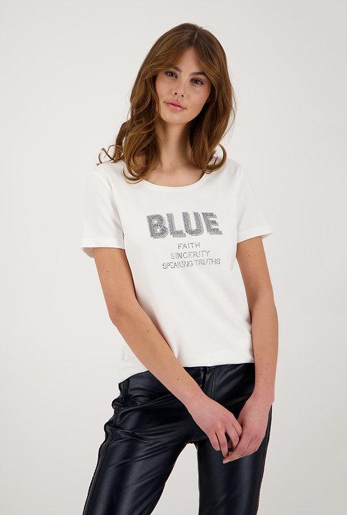 MONARI Shirt kurzarm und rundhals in weiß
