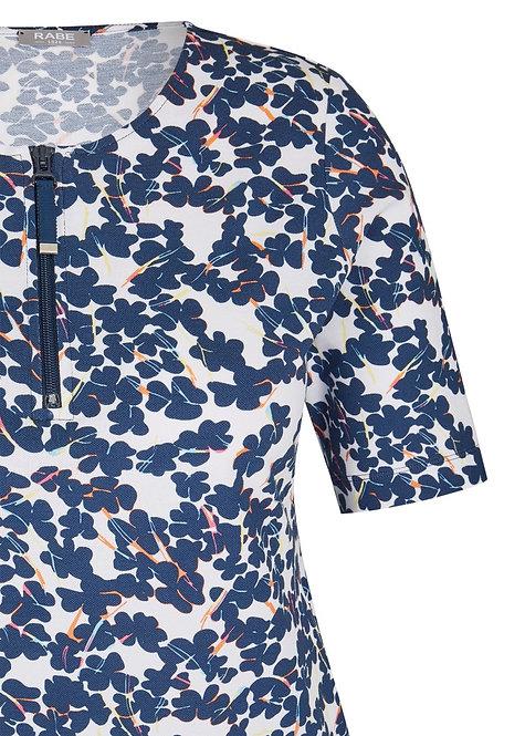 RABE Shirt mit allover-Muster und Zipper