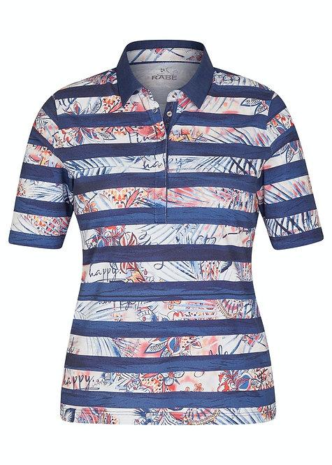 RABE  Ringel-Shirt mit Polokragen