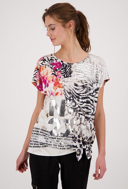 MONARI Shirt mit Mustermix zum knoten