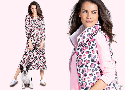 FRIEDA & FREDDIES Kleid Muster weiß, pink, schwarz