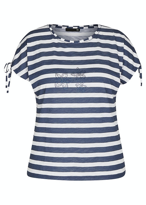 RABE Shirt maritim mit Straßsteinen