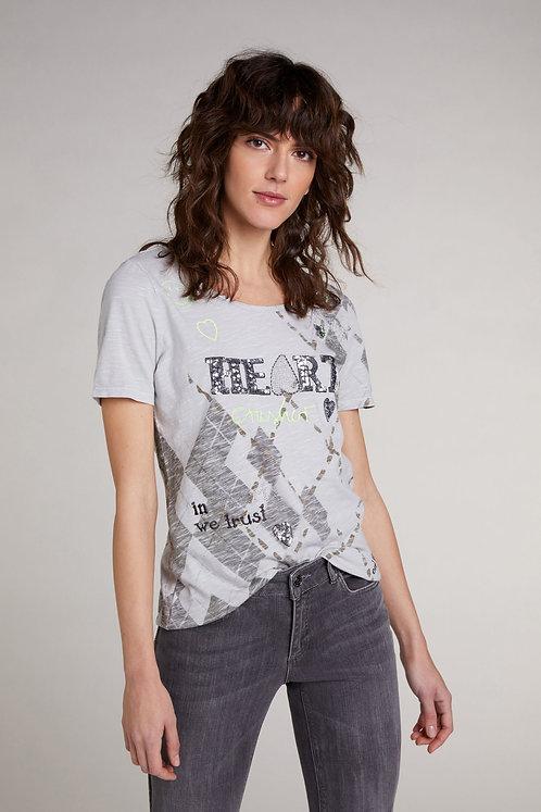 OUI T-Shirt mit Schriftzug