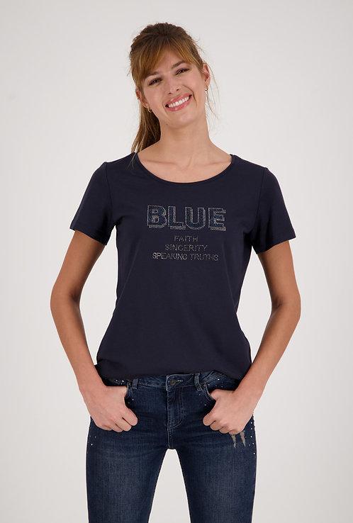 MONARI Shirt kurzarm und rundhals in blau