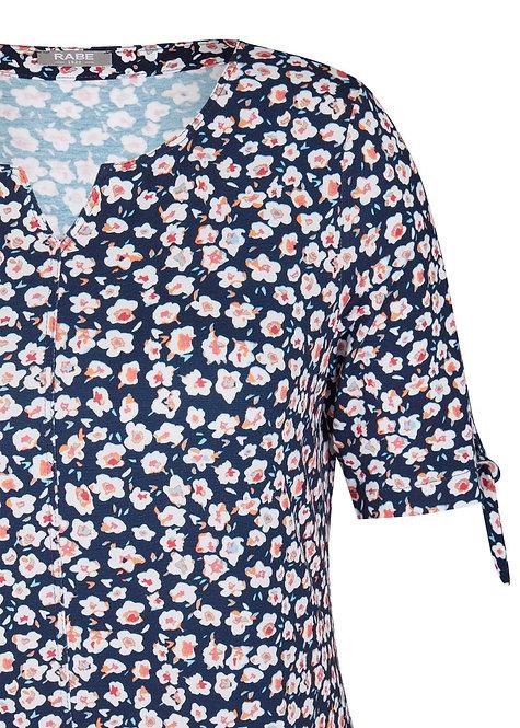 RABE Shirt mit allover-Muster und Bindebändern