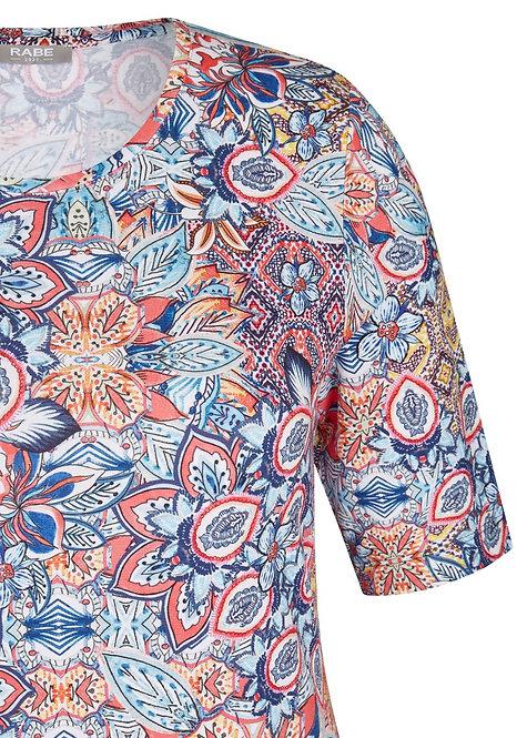 RABE Shirt mit buntem Muster und Rundhals