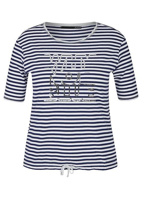 LE COMTE Shirt gestreift blau weiß