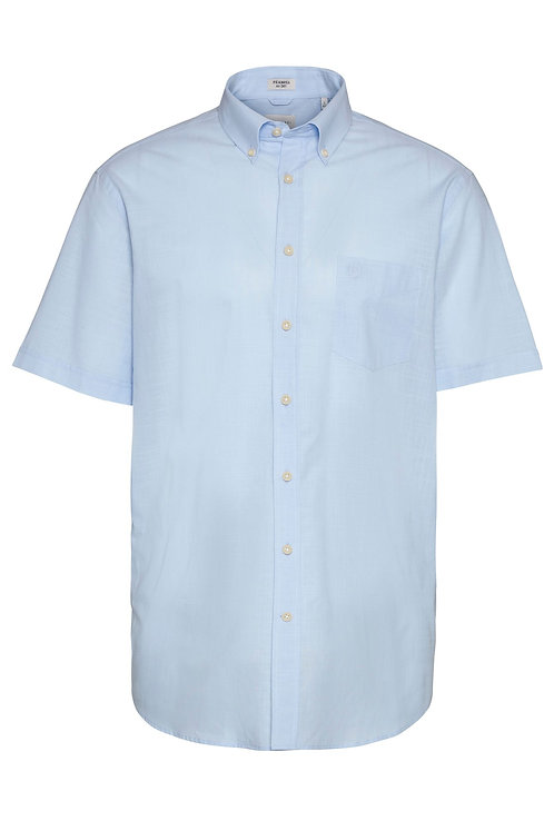 BUGATTI Herrenhemd kurzarm hellblau