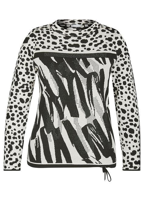RABE Elements Pullover mit Print und Strass
