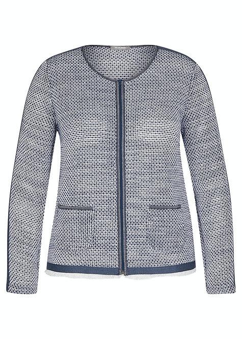 RABE Jacke Selection blau weiß gemustert