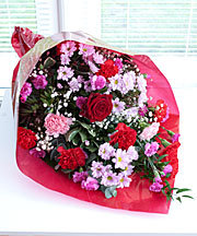 Bouquet with single Red Rose