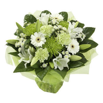 White and Green Handtied WG02