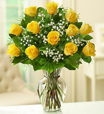 Hand Tied of Yellow Roses