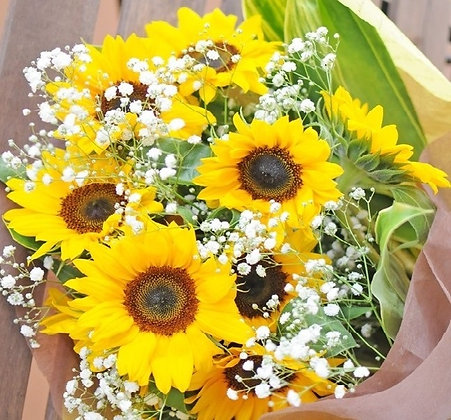 Bouquet of Sunflowers and Gyp