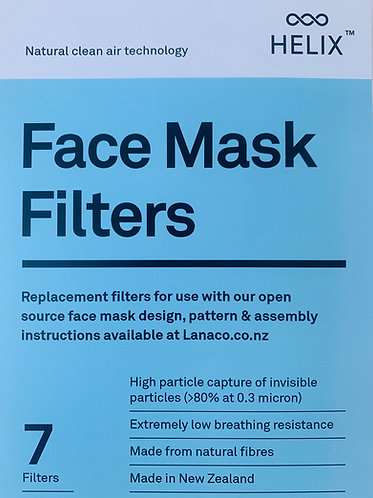 Face Mask Filters - Refill 7 Pack